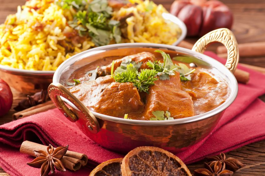 10574358 - indian meal with curry and biryani
